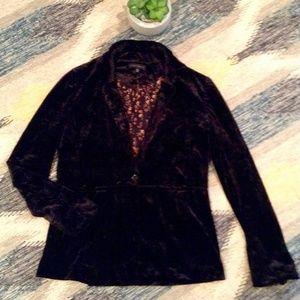 Crushed Black Velvet Blazer from Sanctuary